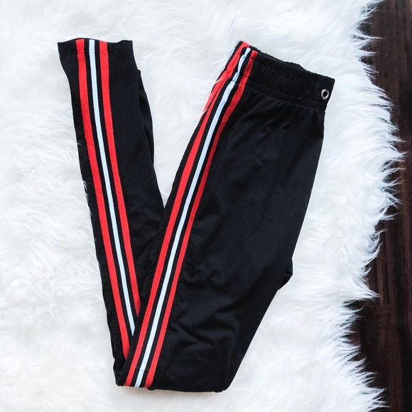 64b5ad688f1ce liz & Sara Pants | Athleisure Leggings With Side Stripe Detail ...
